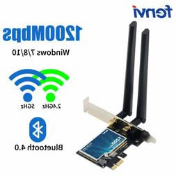 1200Mbps Desktop PCIe WiFi Card 5G/2.4G Network Adapter Wire