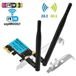 1200Mbps PCI-E Wireless WiFi Card 2.4G/5G Dual Band Network