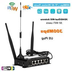 300Mbps Industrial 4G LTE Wireless WiFi Router USB Modem Hot