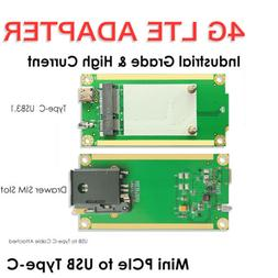 4G LTE Mini PCIe to USB Adapter WSIM Card Slot Type-C for WW