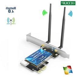 2 Antenna PCI-E 600Mbps 802.11ac Wireless Bluetooth WiFi Car