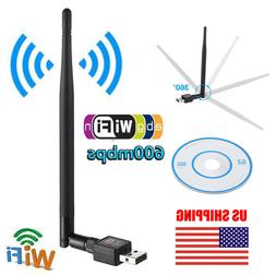 600mbps usb wifi adapter dongle wireless network