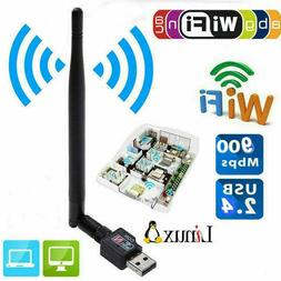 900Mbps 2.4 GHz Wireless USB WiFi Adapter Dongle Network LAN