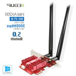 EDUP Bluetooth 5.0 Wifi 6 3000Mbps AX200NGW PCI-E Wireless C