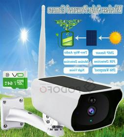 Outdoor Wifi Solar Powered IP Camera Home Security Night Vis