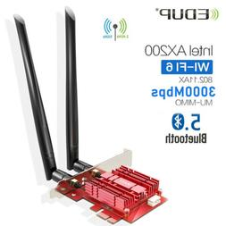 EDUP WiFi 6 Card 3000Mbps PCIe Network Card AX200 2.4Ghz/5.8