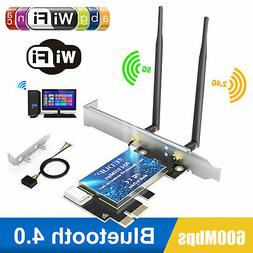 Wireless Dual Band AC600Mbps PCI-E Network Adapter WiFi Card
